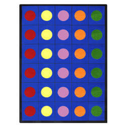 Joy Carpets Kid Essentials Lots Of Dots Multi Area Rug