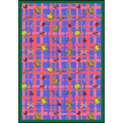Joy Carpets Playful Patterns My Little Princess Blue Area Rug