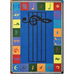 Joy Carpets Kid Essentials Note Worthy Elementary Multi Area Rug
