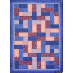 Joy Carpets Kid Essentials Off Beat Purple Area Rug
