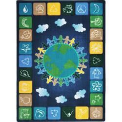 Joy Carpets Kid Essentials One World Neutrals Area Rug