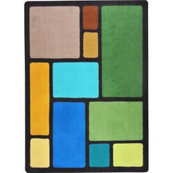 Joy Carpets Kid Essentials Our Block Earthtone Area Rug