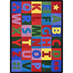 Joy Carpets Kid Essentials Oversize Alphabet Multi Area Rug