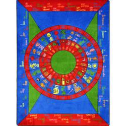 Joy Carpets Kid Essentials Play On Words Multi Area Rug