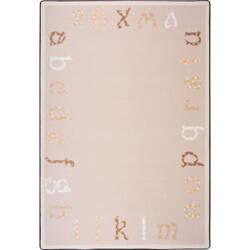 Joy Carpets Kid Essentials Polka Dot Abc's Beige Area Rug