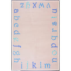 Joy Carpets Kid Essentials Polka Dot Abc's Blue Area Rug
