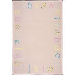 Joy Carpets Kid Essentials Polka Dot Abc's Multi Area Rug