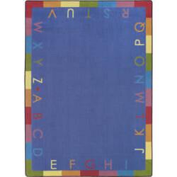Joy Carpets Kid Essentials Rainbow Alphabet Pastel Area Rug