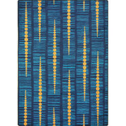 Joy Carpets Kid Essentials Recoil Blue Area Rug