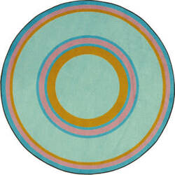 Joy Carpets Kid Essentials Ripples Teal Area Rug