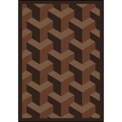 Joy Carpets Kaleidoscope Rooftop Chocolate Area Rug