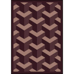 Joy Carpets Kaleidoscope Rooftop Plum Area Rug