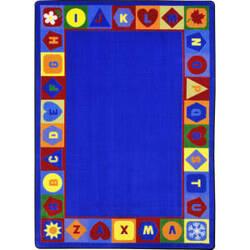 Joy Carpets Kid Essentials Seasons And Shapes Alphabet Multi Area Rug