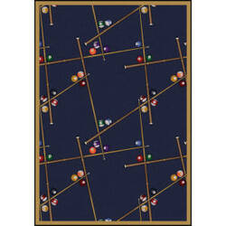 Joy Carpets Games People Play Snookered Federal Blue Area Rug