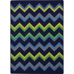 Joy Carpets Kid Essentials Sonic Navy Area Rug