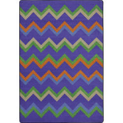 Joy Carpets Kid Essentials Sonic Violet Area Rug