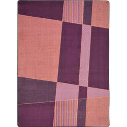 Joy Carpets Kid Essentials Spazz Purple Area Rug