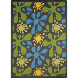 Joy Carpets Kid Essentials Splat Gray Area Rug