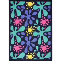 Joy Carpets Kid Essentials Splat Navy Area Rug