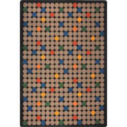 Joy Carpets Playful Patterns Spot On Antique Area Rug