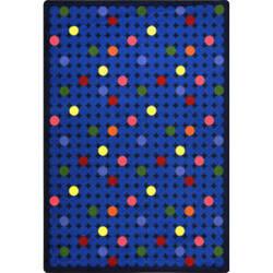 Joy Carpets Playful Patterns Spot On Rainbow Area Rug
