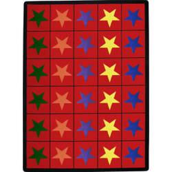 Joy Carpets Kid Essentials Star Space Multi Area Rug