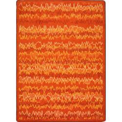 Joy Carpets Kid Essentials Static Electricity Orange Area Rug