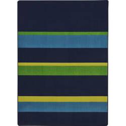 Joy Carpets Kid Essentials Straight And Narrow Navy Area Rug
