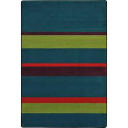 Joy Carpets Kid Essentials Straight And Narrow Tropics Area Rug