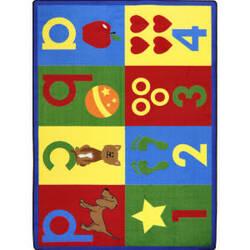 Joy Carpets Kid Essentials Toddler Basics Bold Area Rug