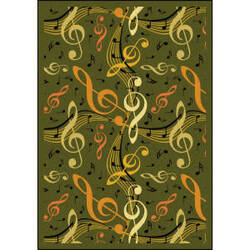 Joy Carpets Kid Essentials Virtuoso Green Area Rug