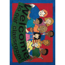 Joy Carpets Kid Essentials Welcome To Our Classroom Multi Area Rug