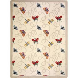 Joy Carpets Kaleidoscope Wing Dings Beige Area Rug