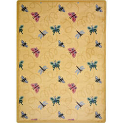 Joy Carpets Kaleidoscope Wing Dings Gold Area Rug