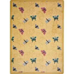 Joy Carpets Kaleidoscope Wing Dings Gold Area Rug