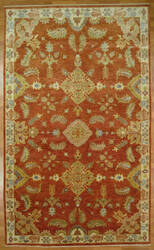 Kalaty Oak 352364 Red Ivory Area Rug