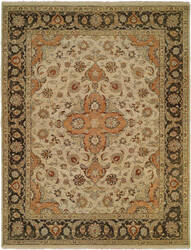 Famous Maker Allexa 100635 Ivory Charcoal Area Rug