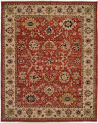 Famous Maker Shire 100581 Rust - Ivory Area Rug