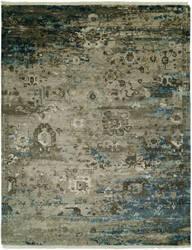 Famous Maker Elixir 100025 Vintage Grey - Blue Area Rug