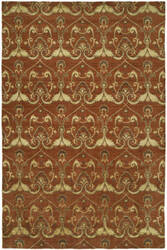 Famous Maker Grimani 100686 Terracotta Area Rug