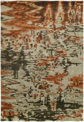 Famous Maker Dynamic 100318 Mirage Burnt Orange Area Rug