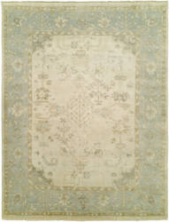Famous Maker Oushak 100463 Ivory - Spa Blue Area Rug