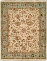 Famous Maker Pastire 100988 Ivory - Light Blue Area Rug