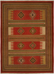 Famous Maker Soumak 100220 Rust Area Rug