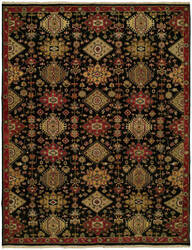 Famous Maker Soumak 100278 Black Area Rug