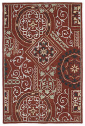 Kaleen Brooklyn 5302-25 Red Area Rug