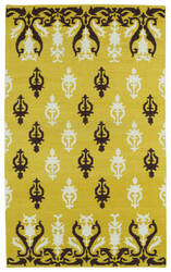 Kaleen Glam Gla04-28 Yellow Area Rug