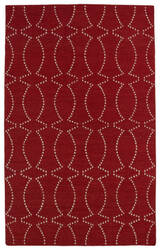Kaleen Glam Gla07-25 Red Area Rug