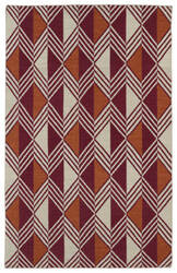 Kaleen Nomad Nom06-25 Red Area Rug