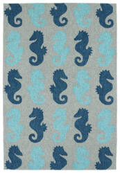 Kaleen Sea Isle Sea03-17 Blue Area Rug